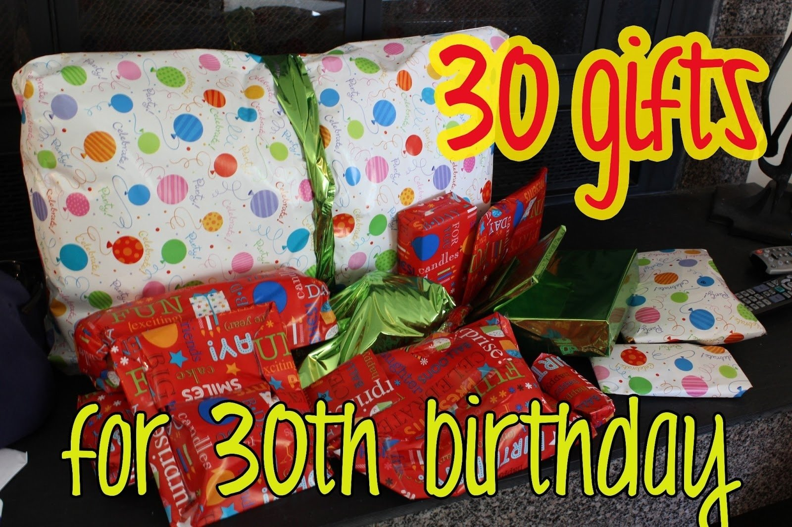 10 Amazing 30 Year Old Birthday Gift Ideas Love Elizabethany Idea Gifts For 30th