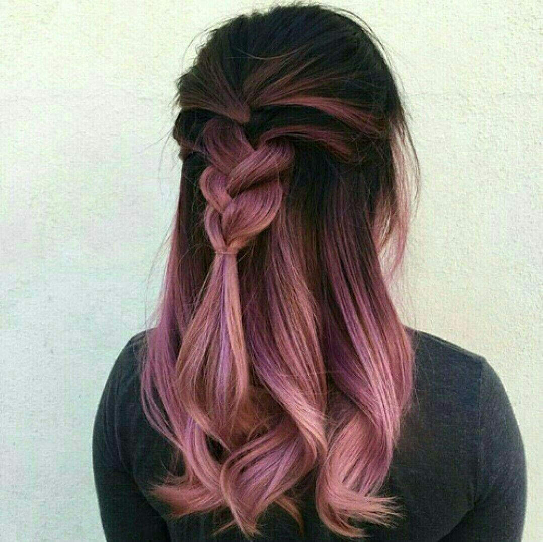 10 Unique Pink And Black Hair Ideas love the dark pink ombre movie hairstyles with colors