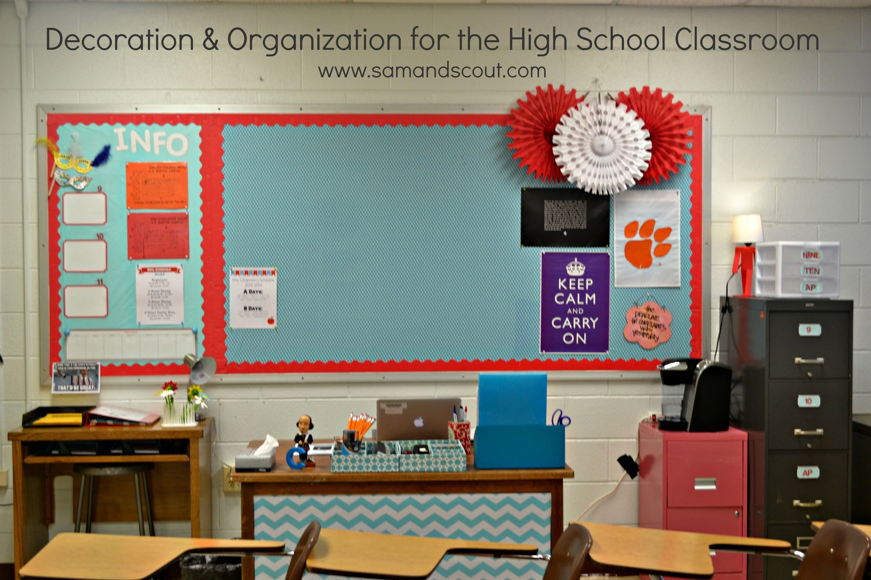 10 Fantastic Middle School Classroom Decorating Ideas love these bright colors when math can be such a gloomy subject 2020