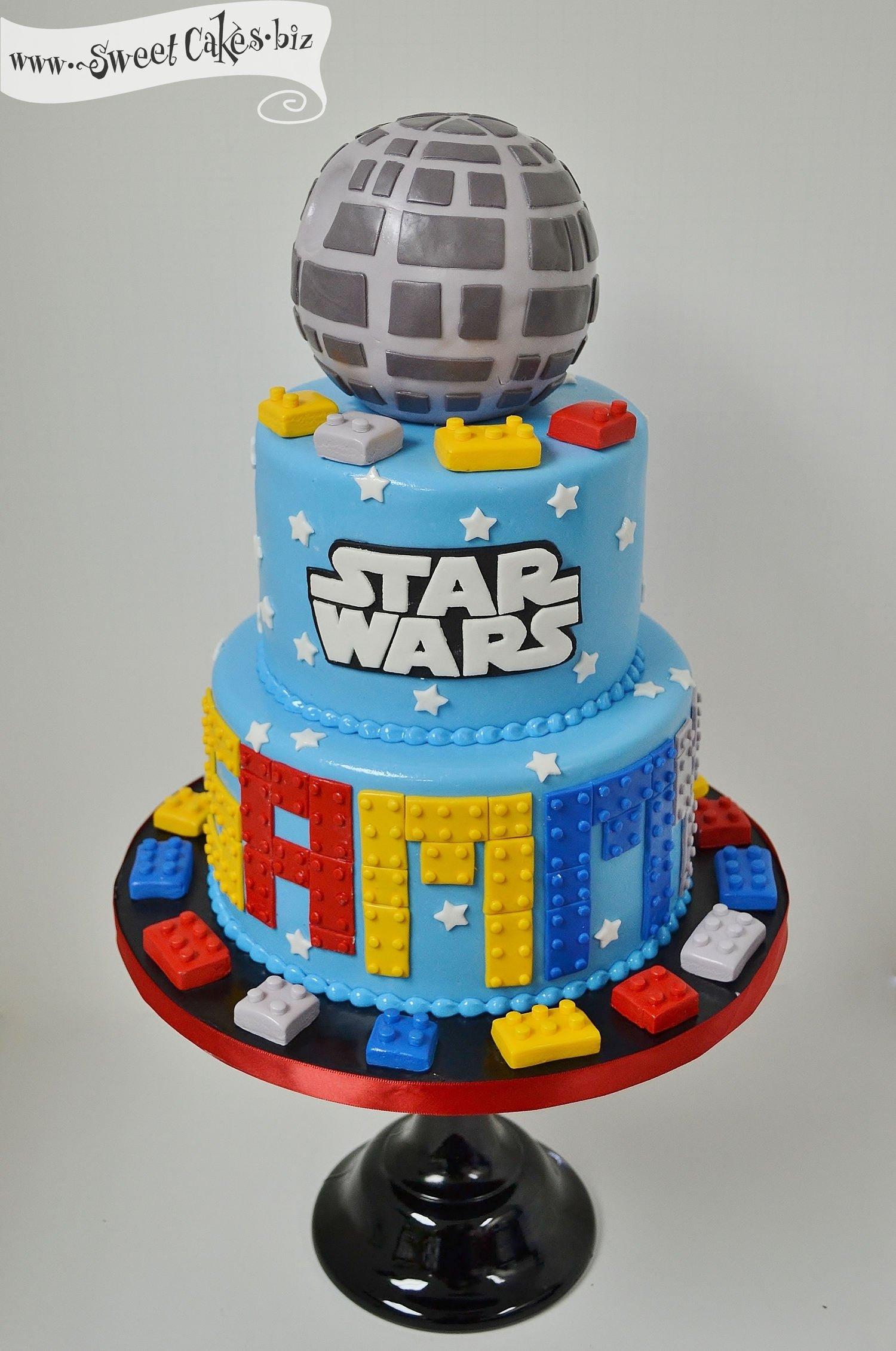 10 Fantastic Lego Star Wars Birthday Party Ideas love this cake for skylars 7th birthday lego star wars birthday 1 2021