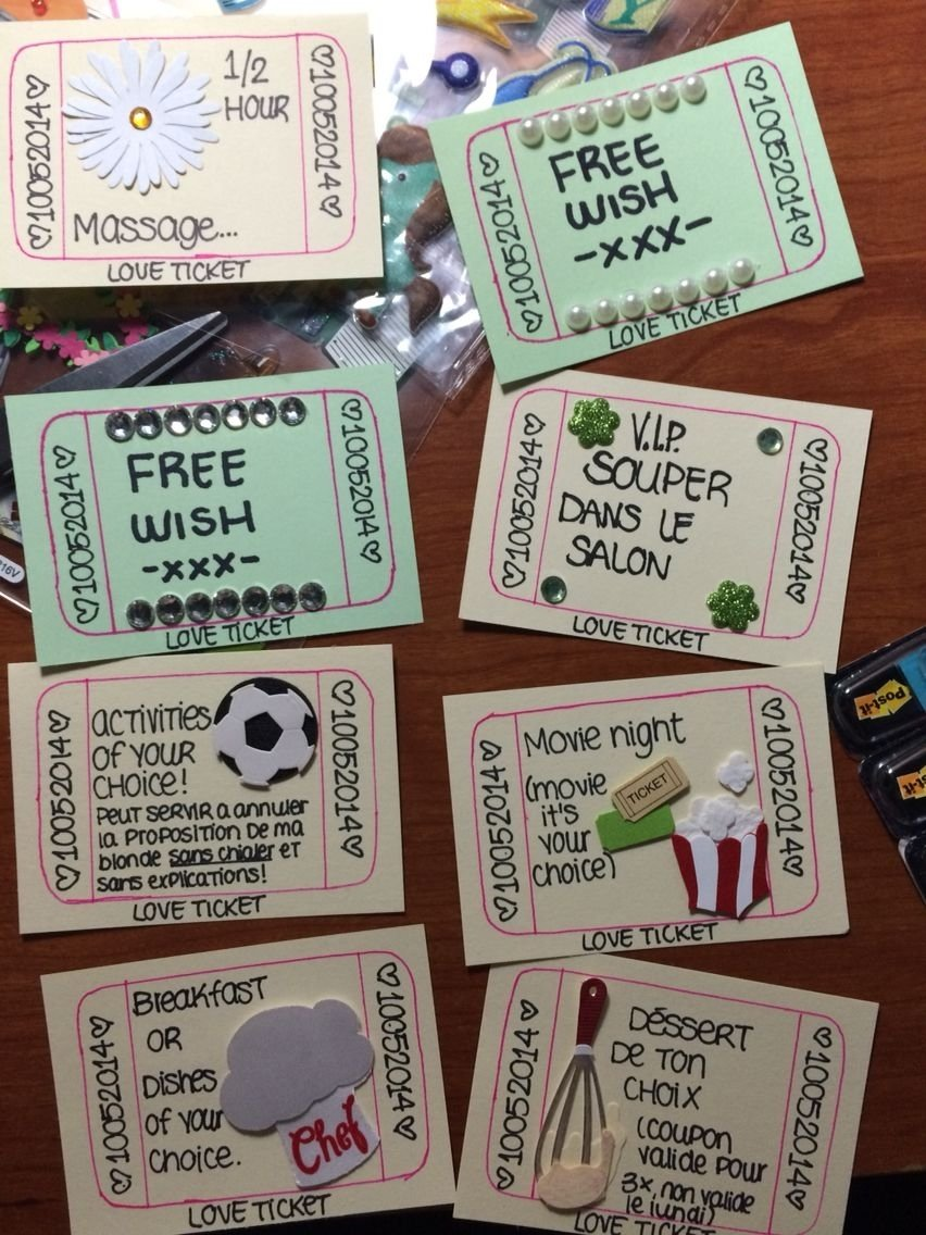 10 Wonderful Fun Anniversary Ideas For Him love ticket home made inspiration simple ideas for your boyfriend 1 2021