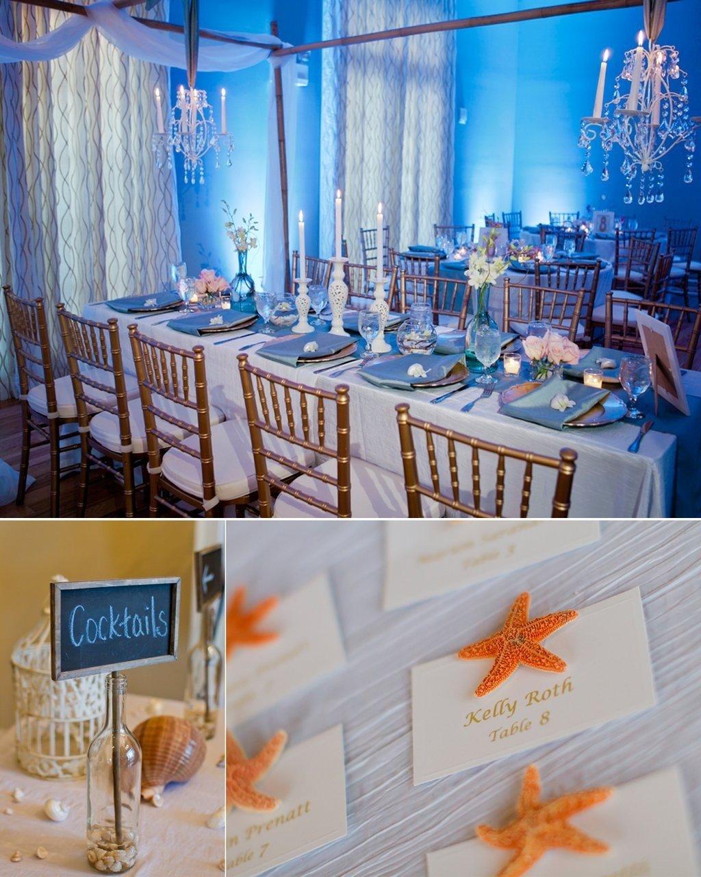 lovely beach themed wedding reception decorations - wedding ideas