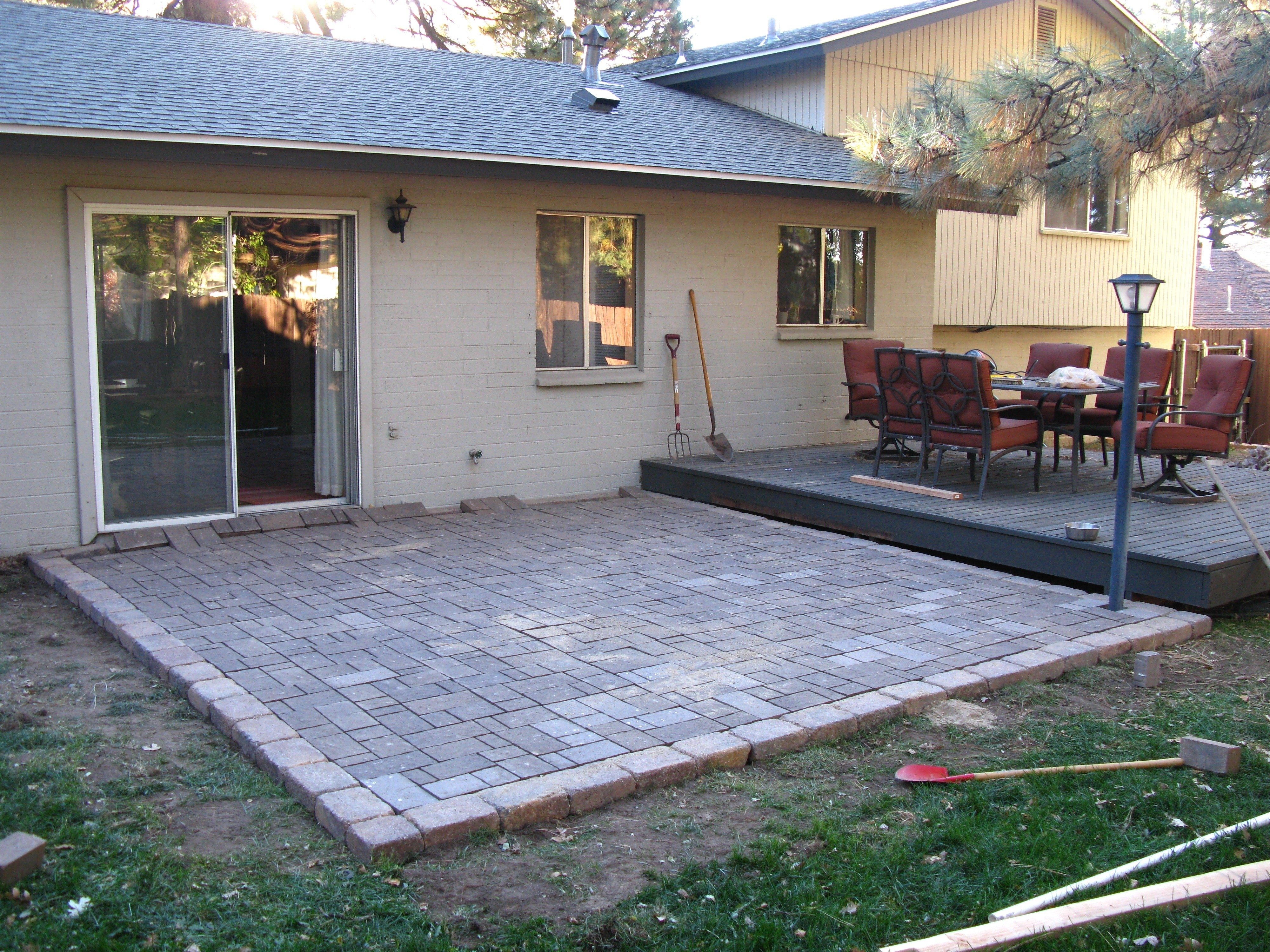 lovely do it yourself paver patio | patio design ideas