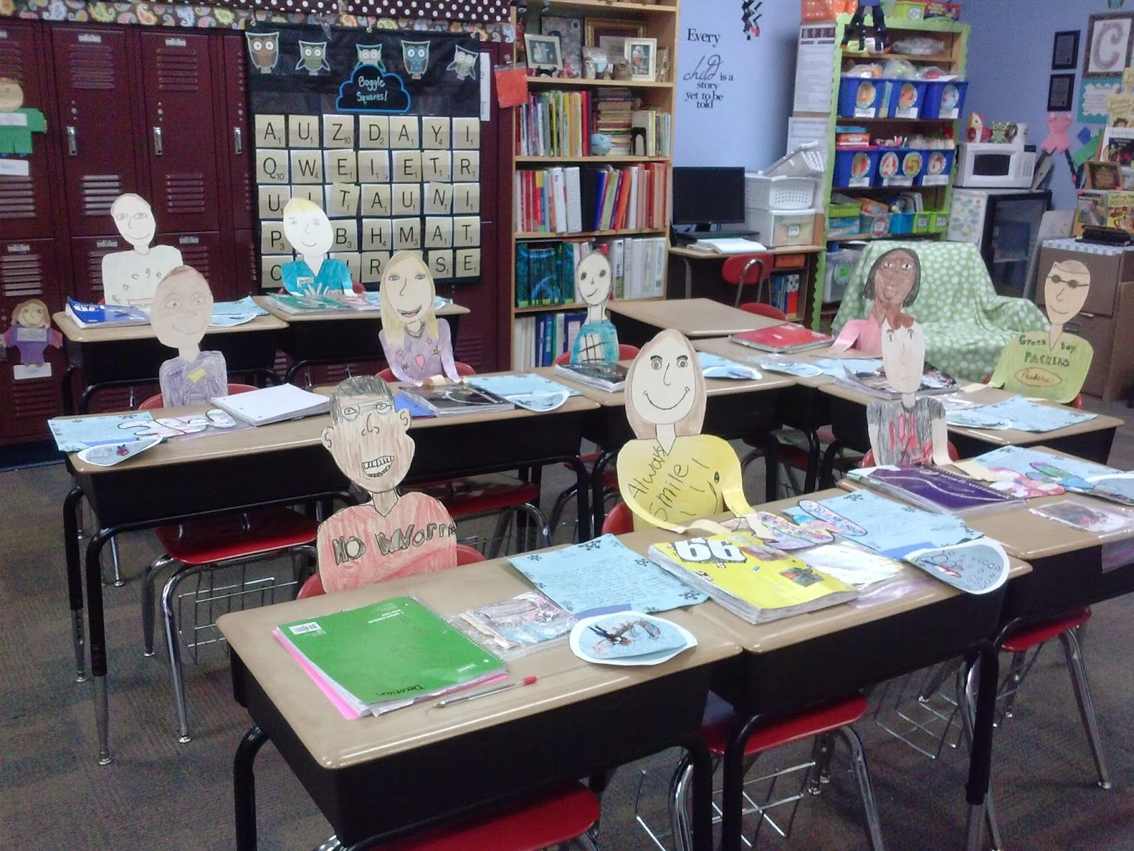"lovesthird grade ""desk people"" for open house 