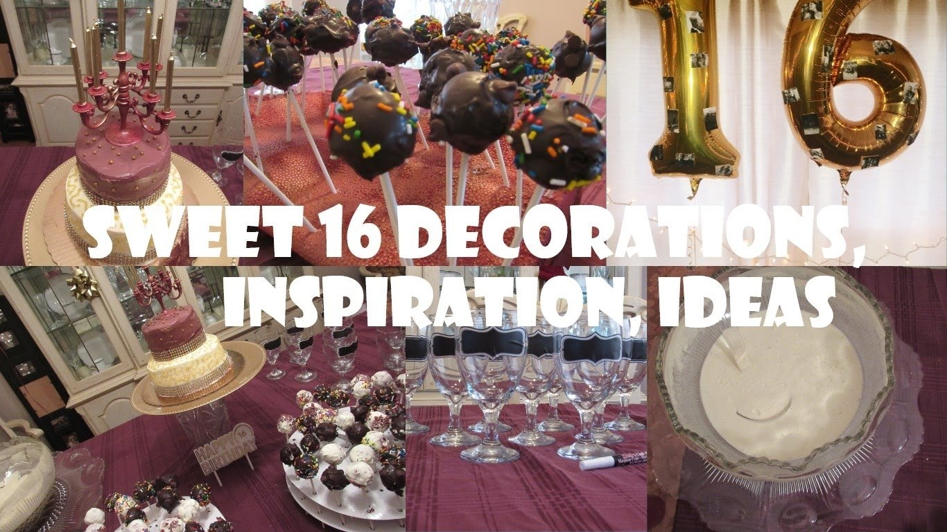 10 Fabulous Ideas For Sweet 16 Birthday Party low key sweet 16 party ideas youtube 1 2020