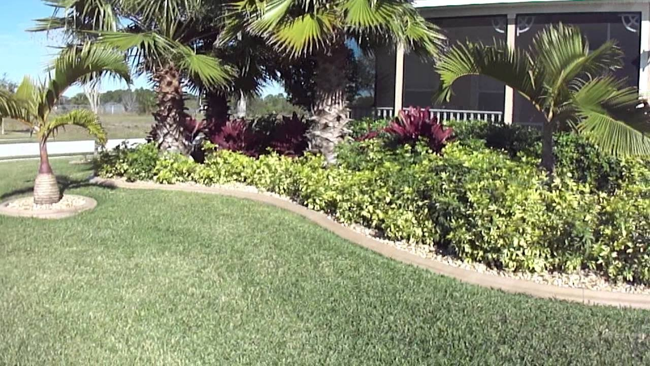 low maintenance front yard tropical landscapeconstruction