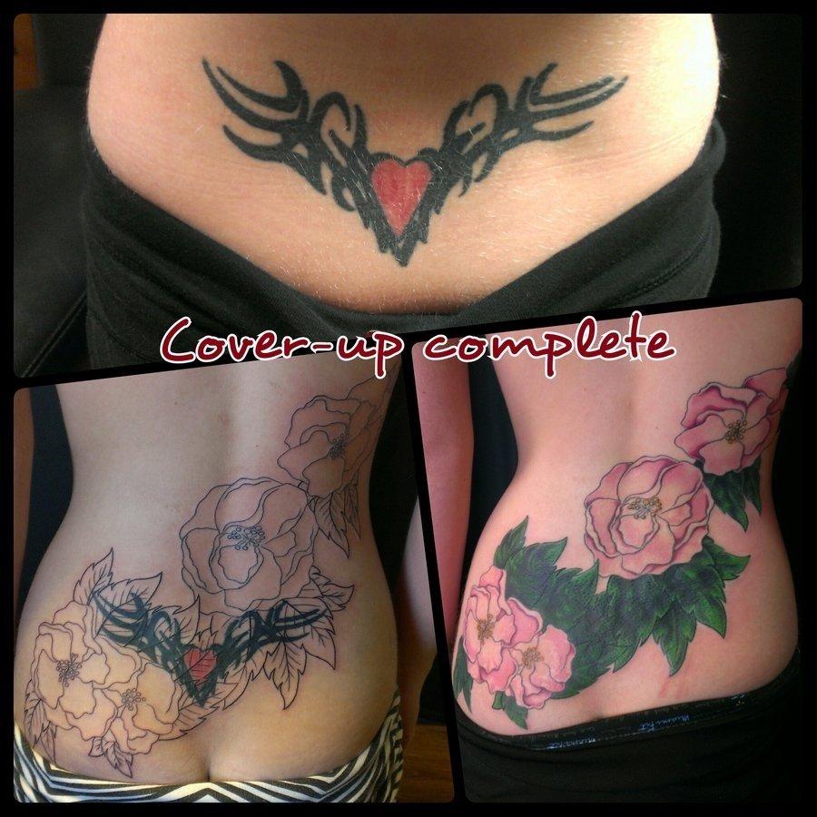 10 Elegant Tramp Stamp Cover Up Ideas lower back coverup tattoowelcometoreality on deviantart 1 2020