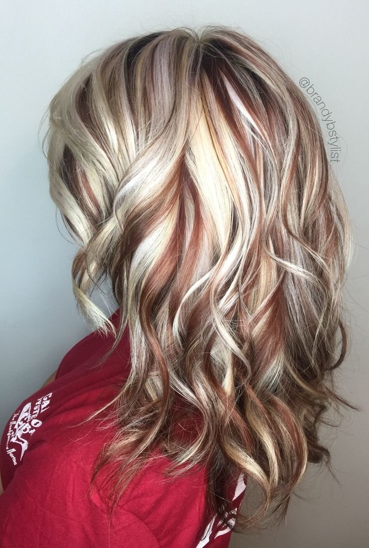 10 Amazing Brown And Blonde Hair Color Ideas lowlights and highlight hair color for long thick curl back side 2