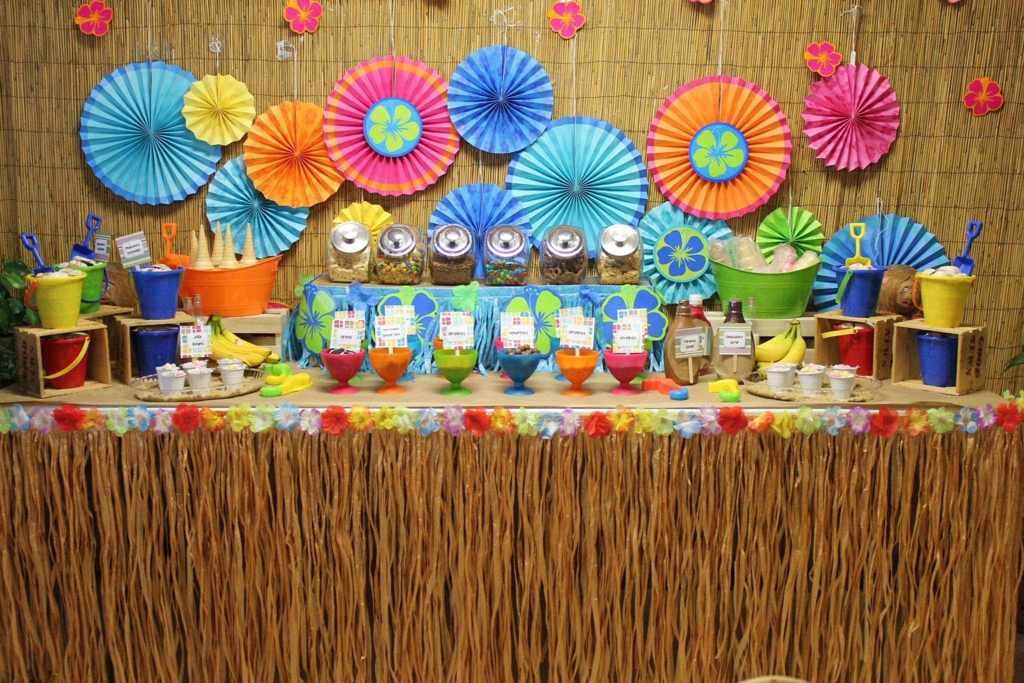 10 Attractive Ideas For A Luau Party luau birthday party ideas share your favorite ice cream sundae 2 2020