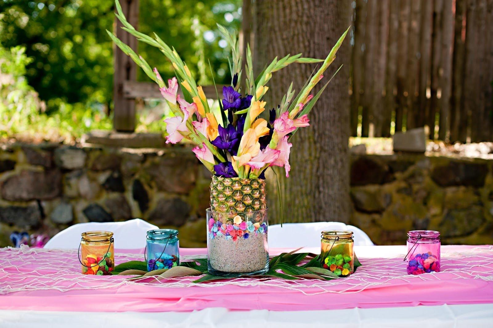 10 Attractive Ideas For A Luau Party luau table centerpiece ideas webtechreview 2020