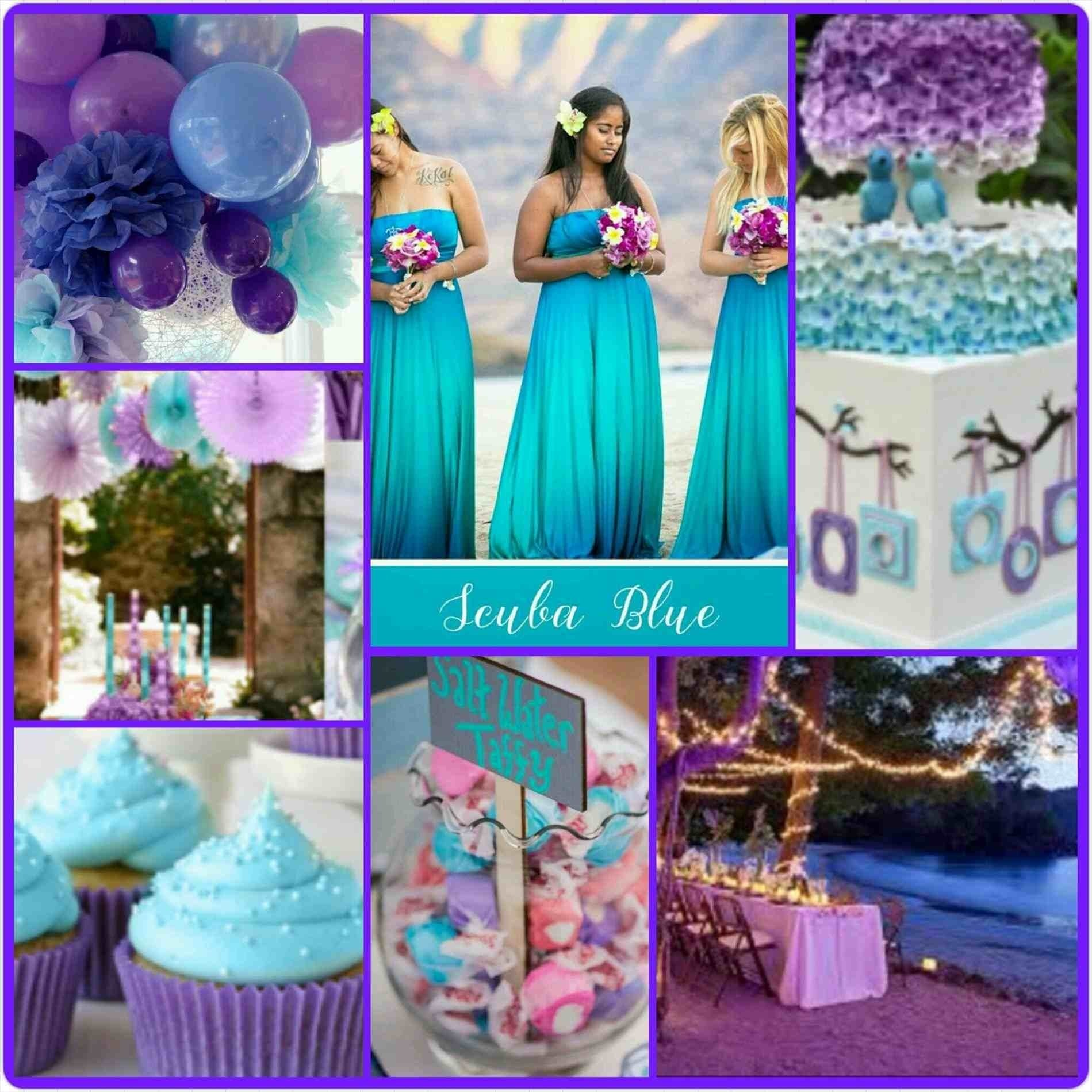 10 Pretty Teal And Purple Wedding Ideas