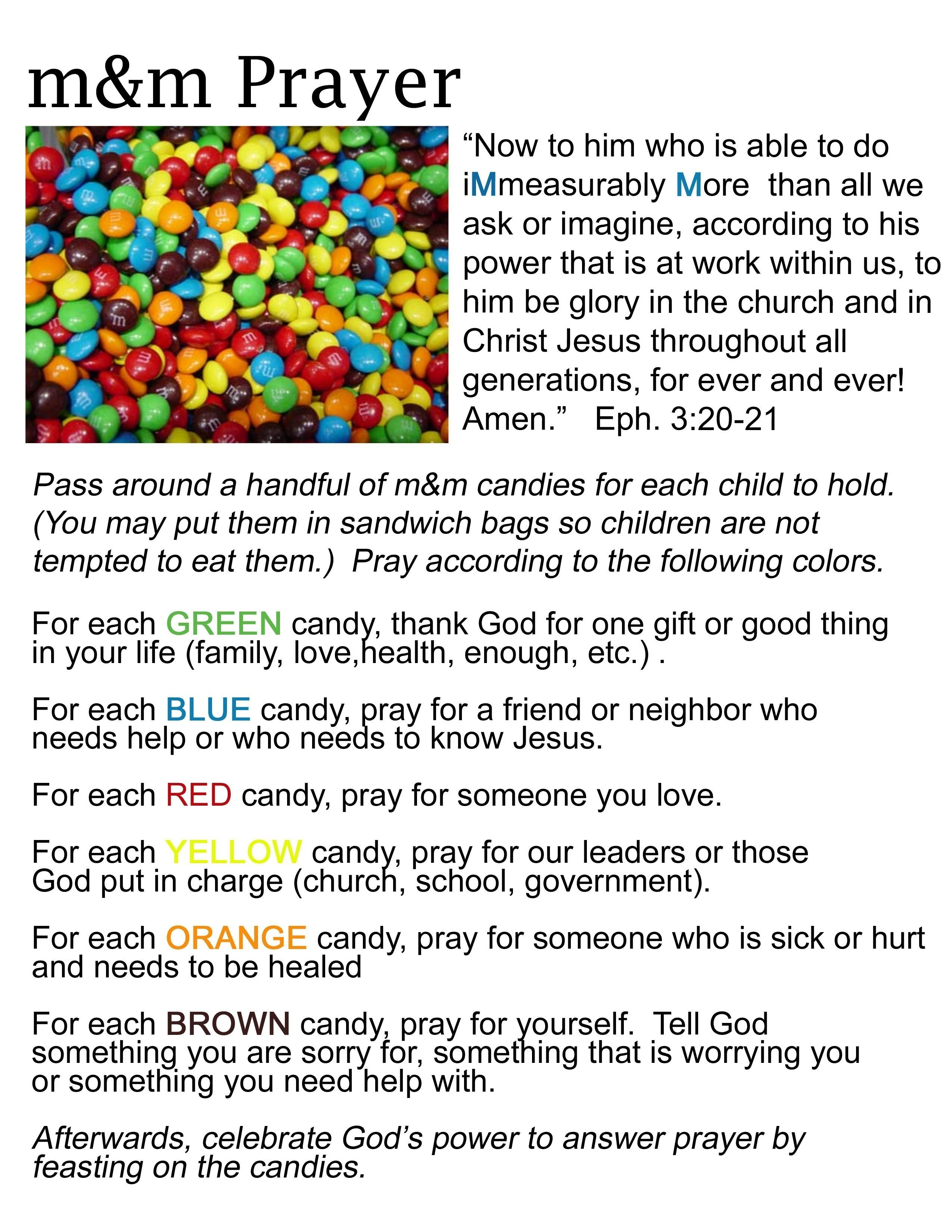 10 Unique Back To Church Sunday Ideas m m prayer activity this is a really cool way to teach children 1 2020