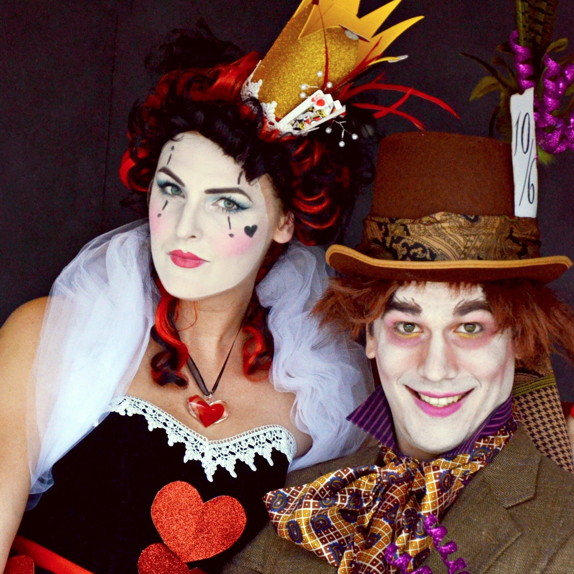 10 Trendy Queen Of Hearts Makeup Ideas mad hatter and queen of heartscouples halloween costume ideas 2020