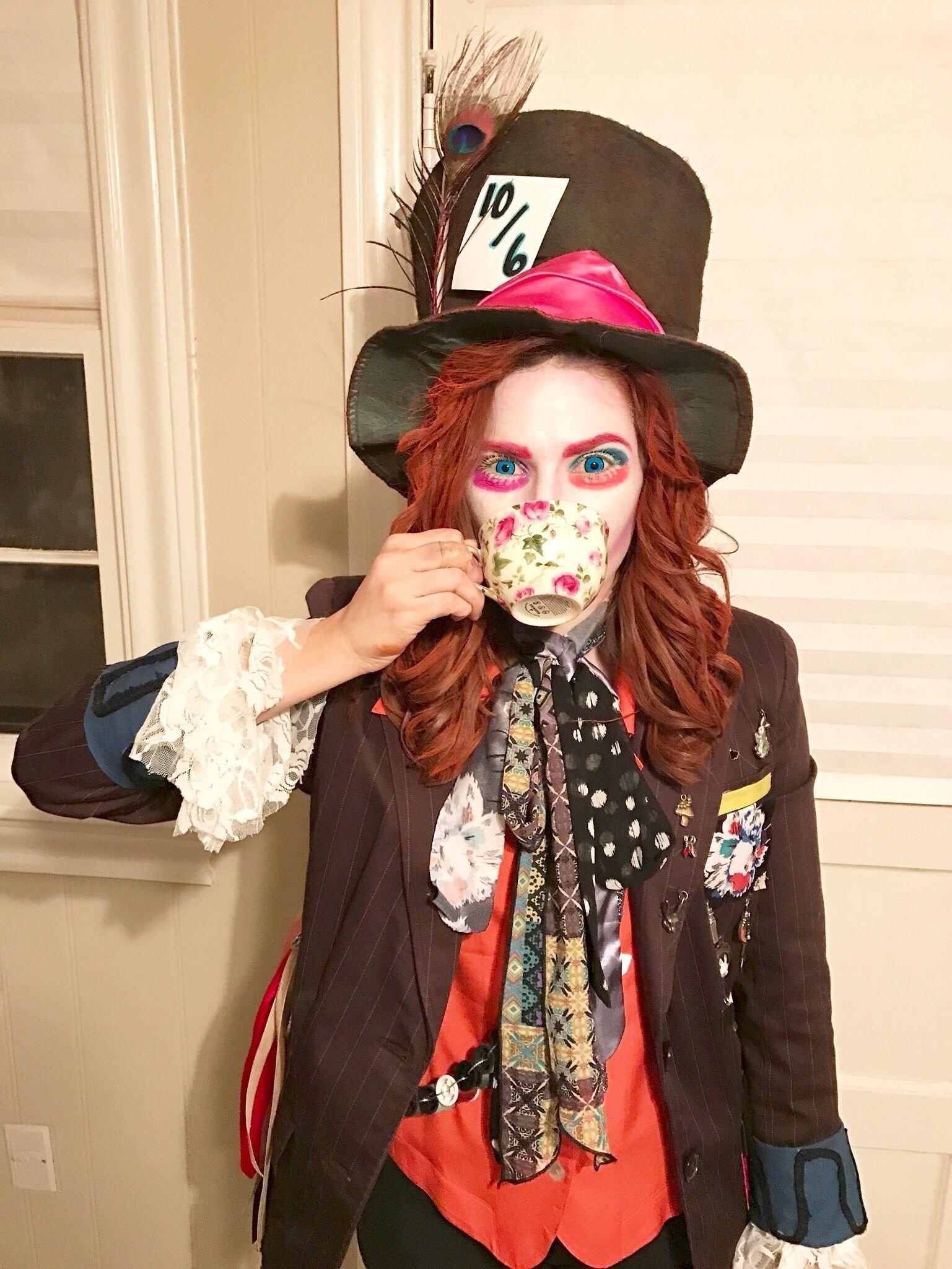 10 Perfect Female Mad Hatter Costume Ideas mad hatter costume diy jacket diy hat makeup halloween pinterest 2020