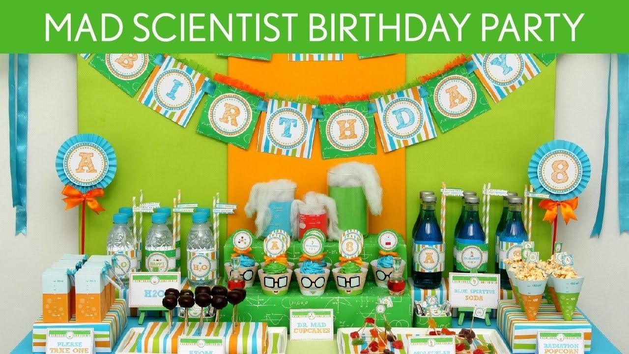 mad scientist birthday party ideas // mad scientist - b43 - youtube