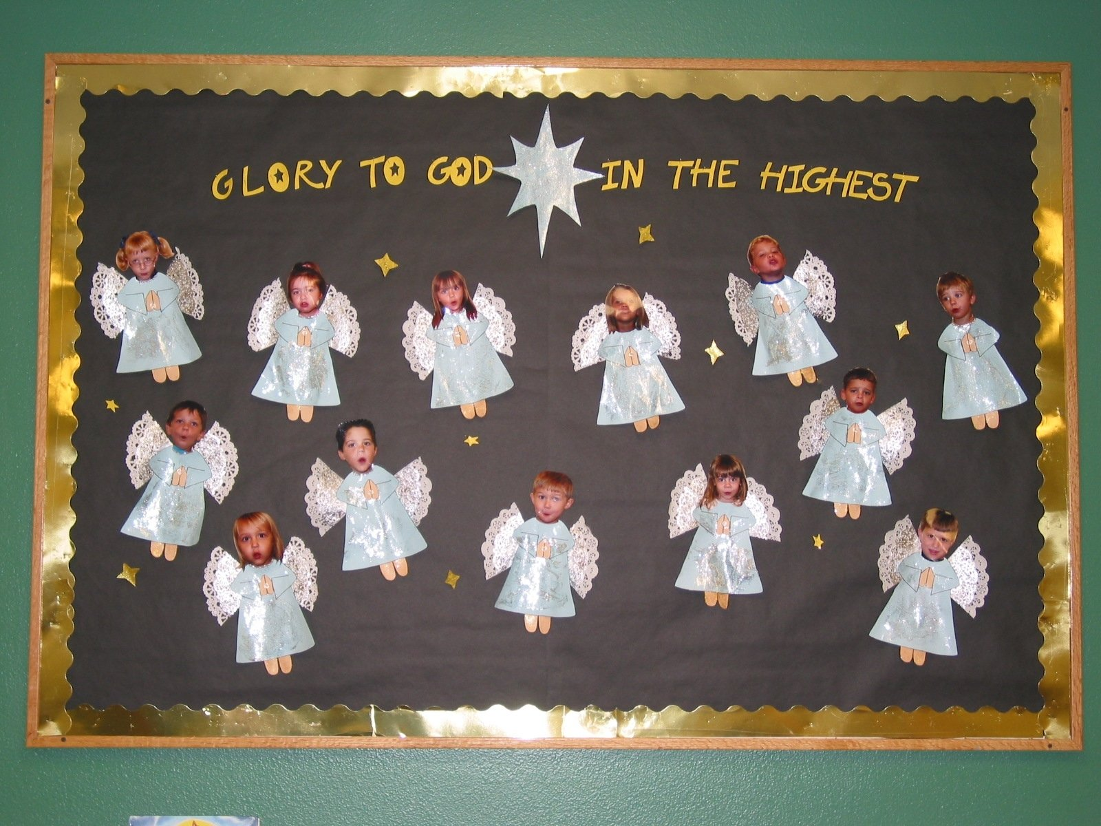 10 Ideal Christmas Church Bulletin Board Ideas made a heavenly host out of my preschoolers sweet lil angels 2 2020
