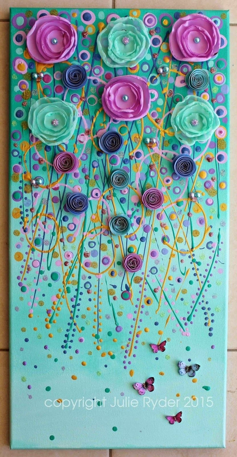 10 Lovable Mixed Media Canvas Art Ideas made by me julie ryder dreams of faraway places new mixed