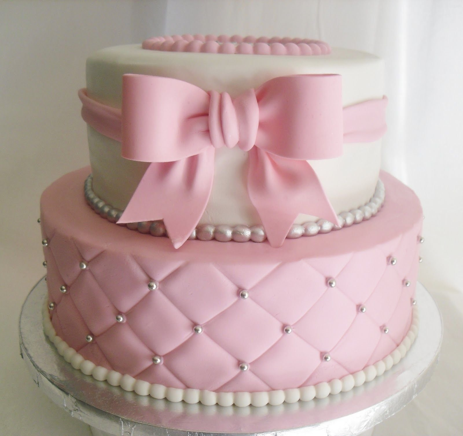 10 Perfect Baby Girl Shower Cake Ideas made fresh daily quilted pink and white baby shower cake girl baby 1 2020