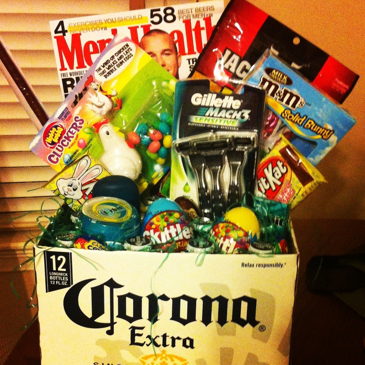 10 Beautiful Easter Basket Ideas For Men made this easter basket for my boyfriend so easy and a huge hit 1