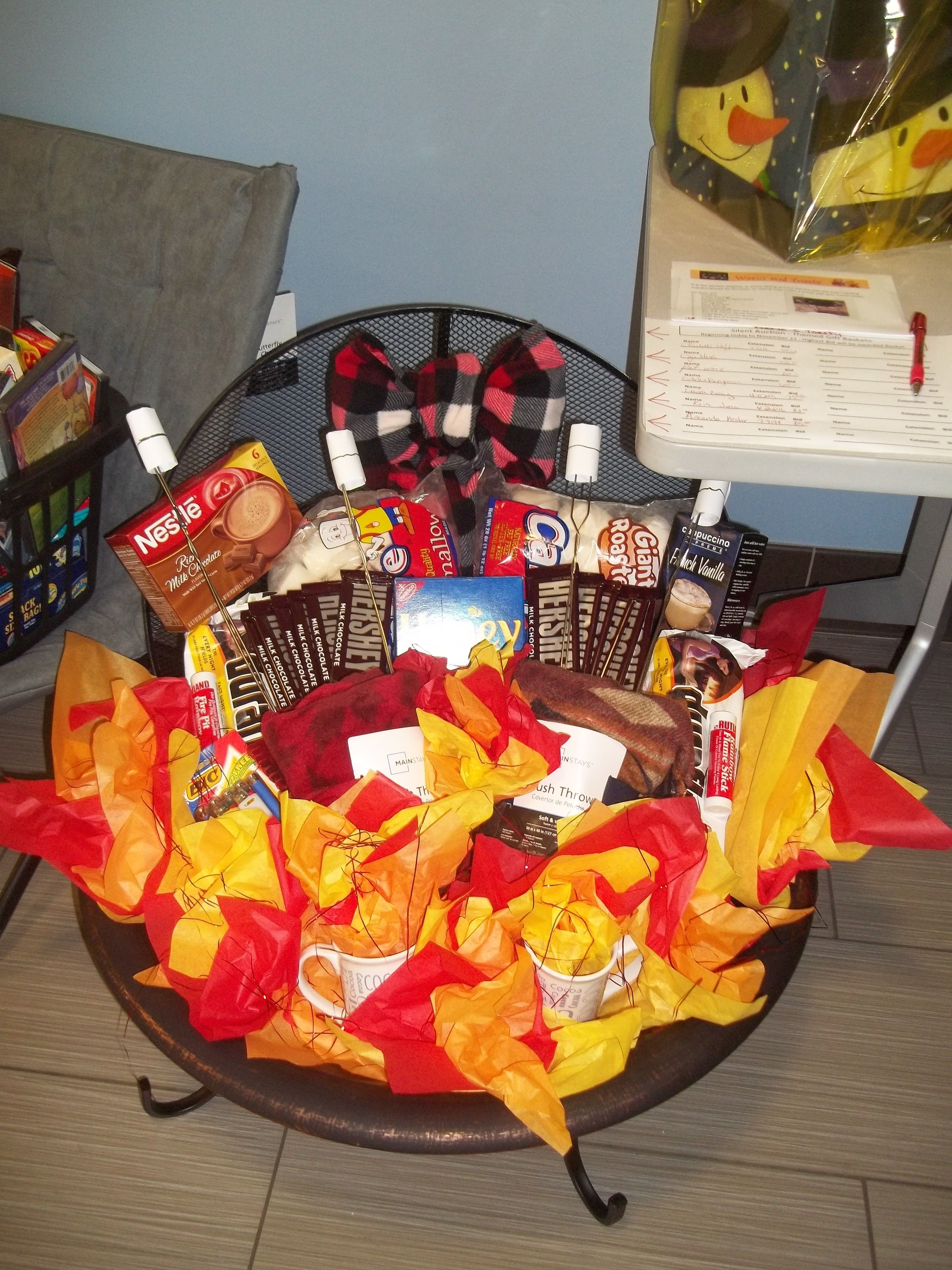 10 Cute Theme Basket Ideas For Silent Auction made this for a fundraiser silent auction its consist of a fire 1