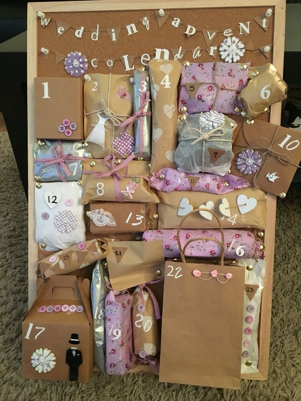 10 Fashionable Gift Ideas For My Best Friend made this wedding advent calendar for my best friend who is getting 1