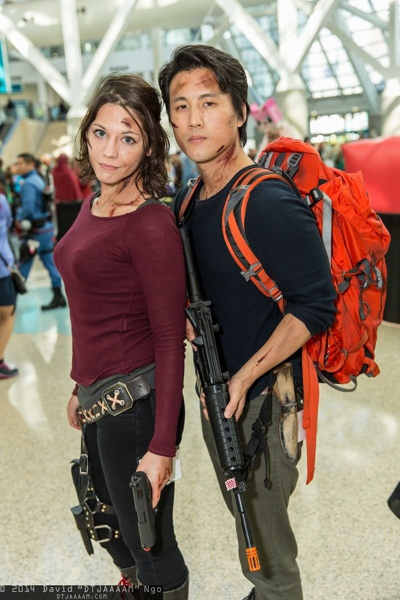 maggie greene and glenn rhee (the walking dead) | comikaze expo 2014