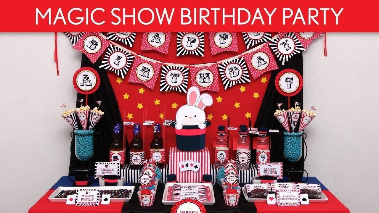 magic show birthday party ideas // magic show - b100 - youtube