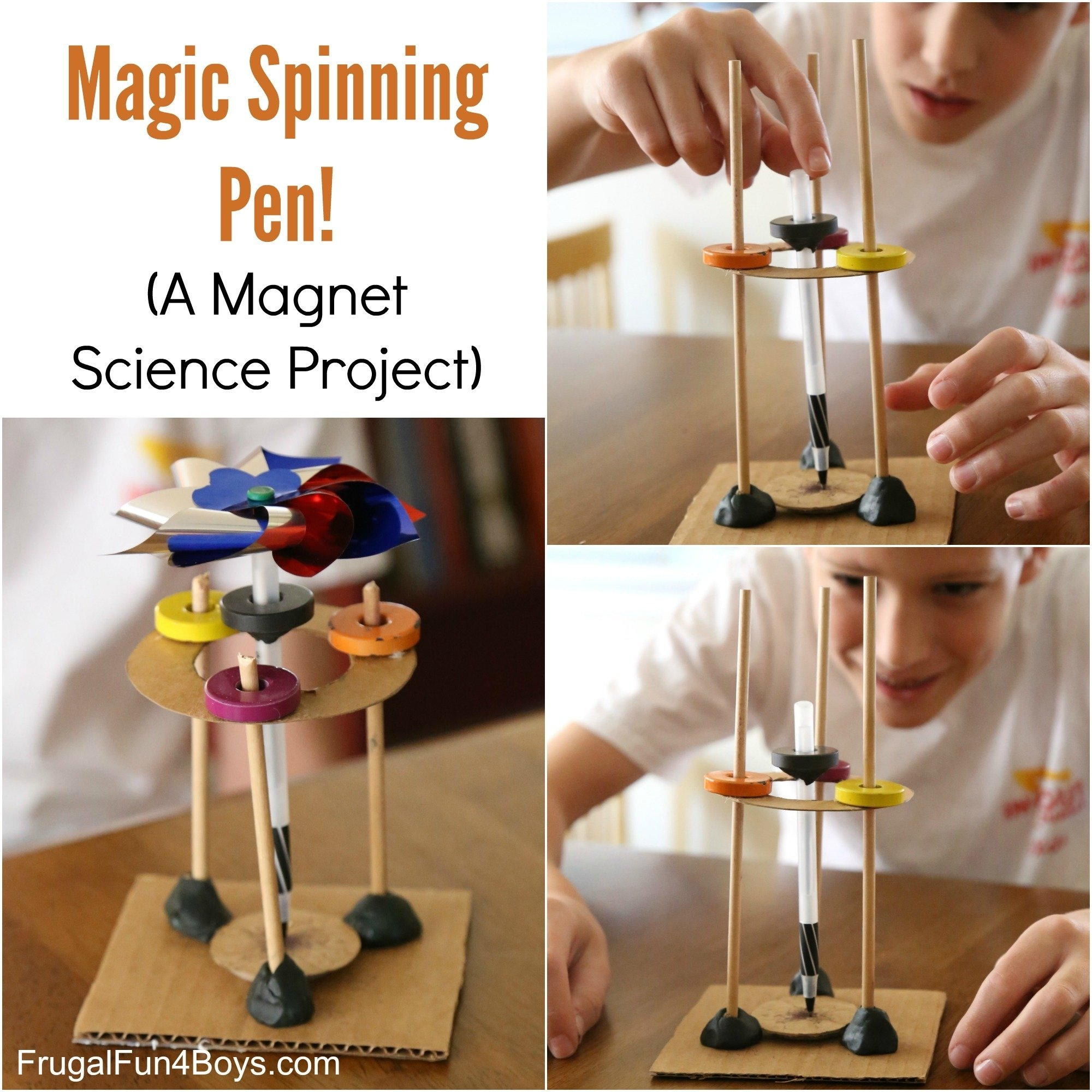 10 Pretty Ideas For Science Projects For Kids magic spinning pen a magnet science experiment for kids 2021