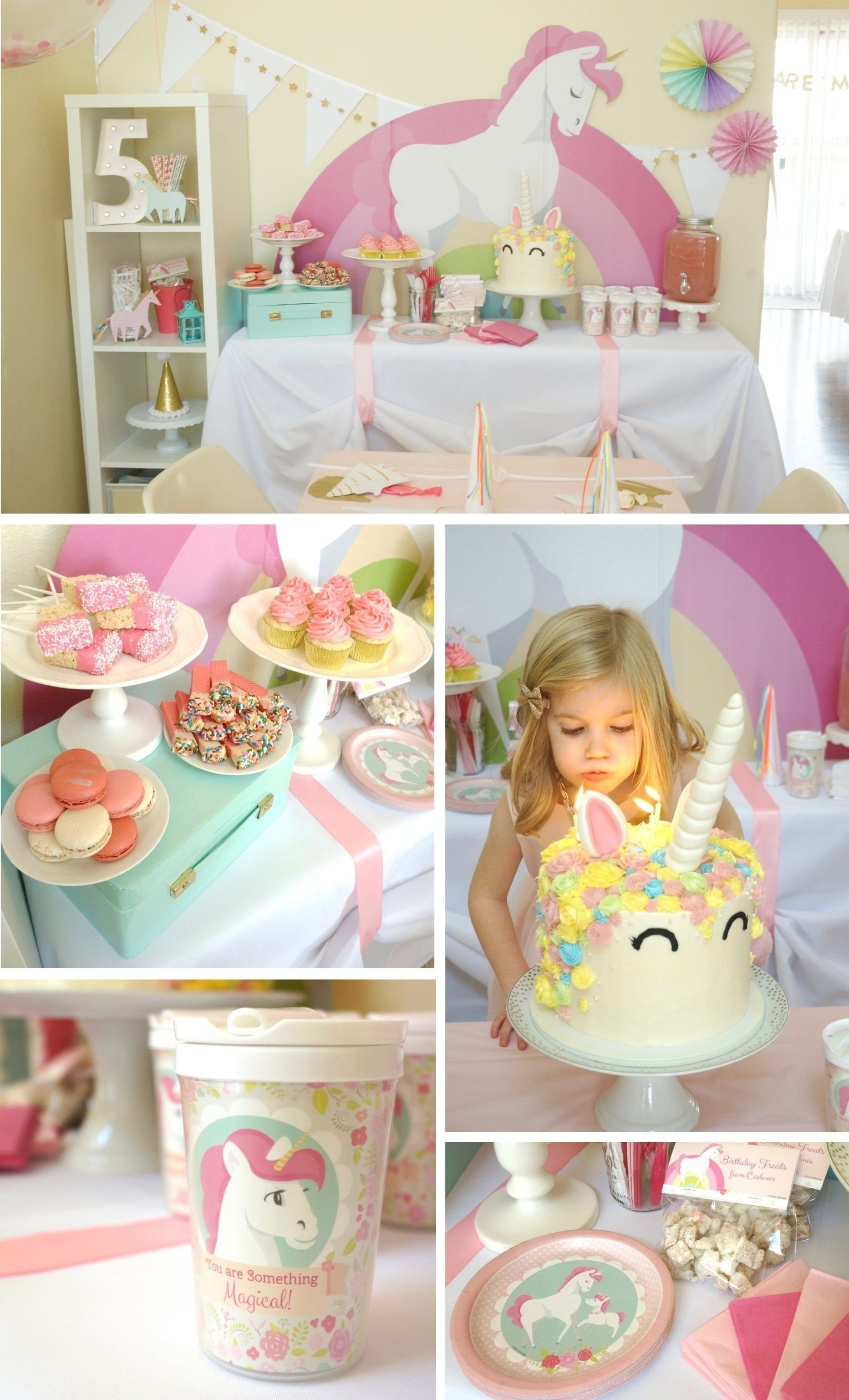 10 Beautiful 4 Year Old Girl Birthday Party Ideas magical unicorn party for a five year old best kids party ever so 2020