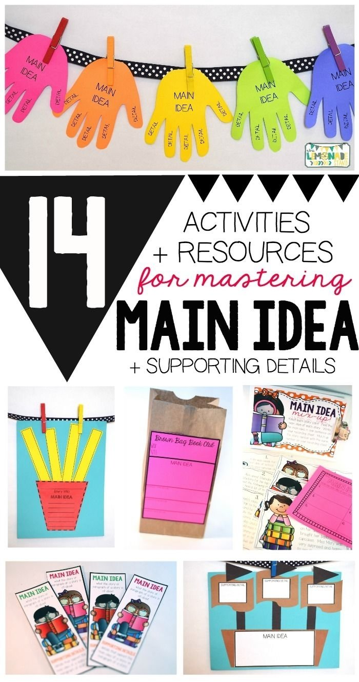 10 Lovable Main Idea And Details Activities main idea activities craftivities and no prep printables anchor 2020