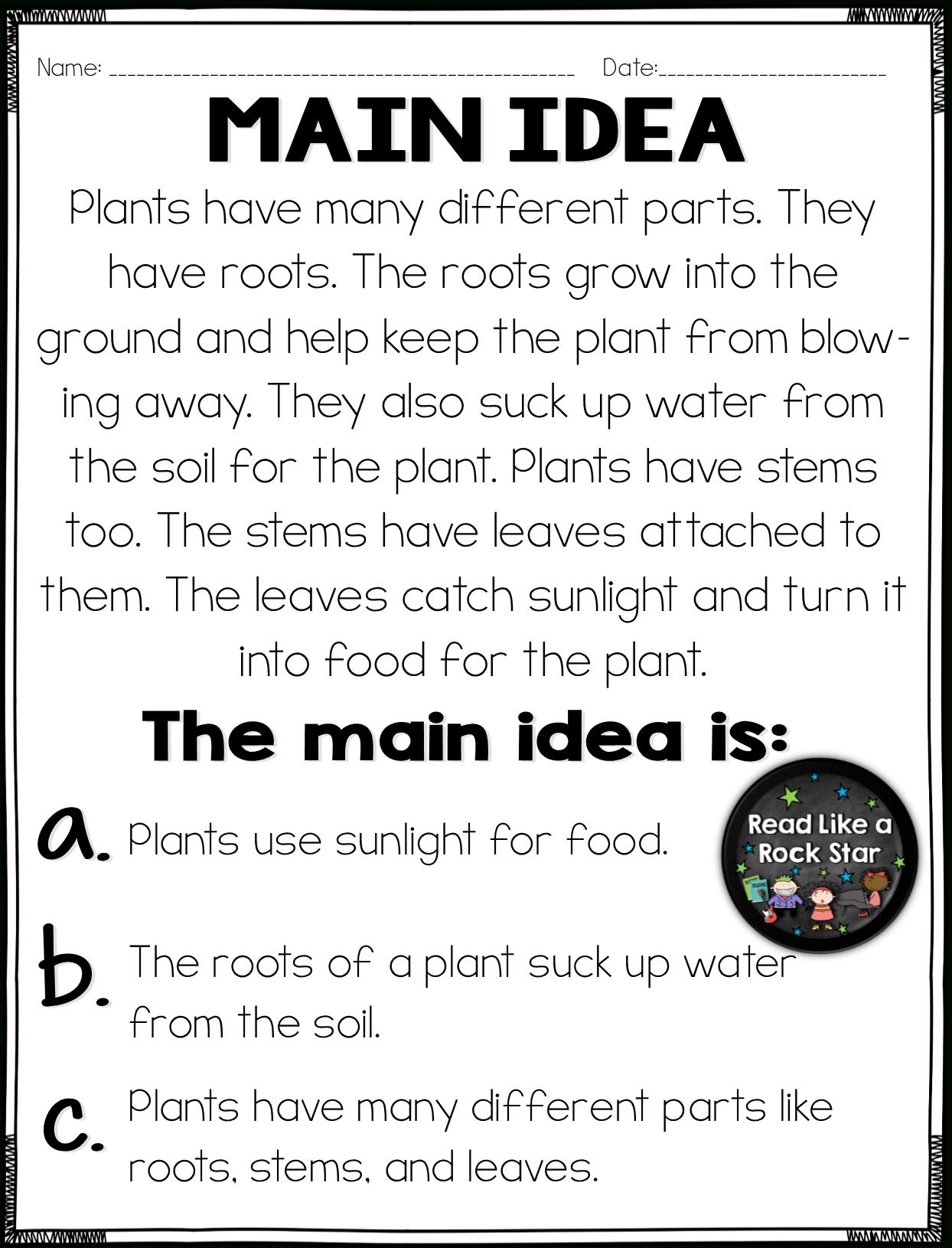 10 Most Popular Main Idea And Details First Grade main idea and details practice common core literacy main idea 2020