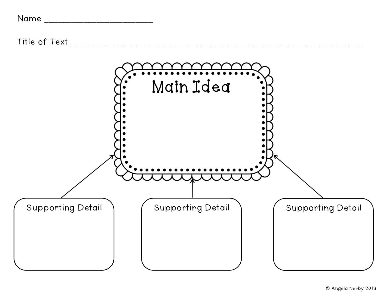 main idea and supporting details graphic organizer worksheets for