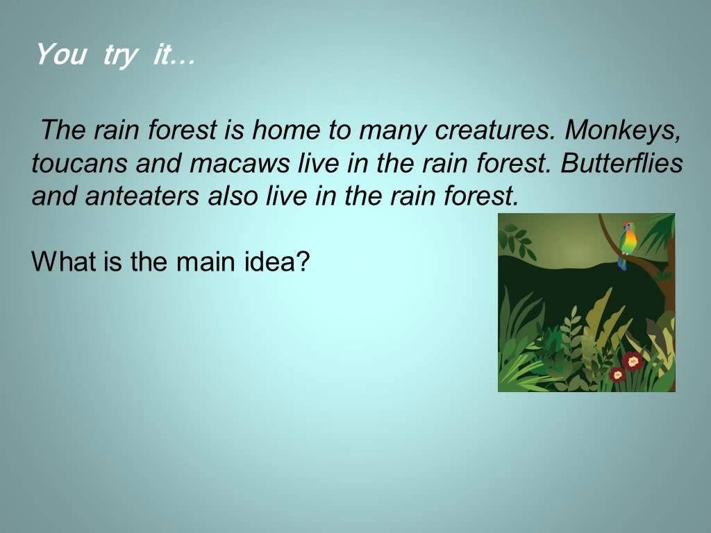 10 Fashionable Definition Of Main Idea For Kids main idea and supporting details youtube 2020