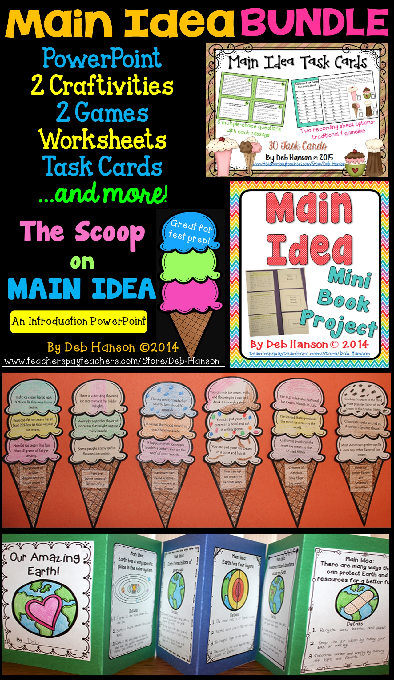 10 Stunning Main Idea And Detail Games main idea bundle 4th 5th and 6th grade worksheets activities 1