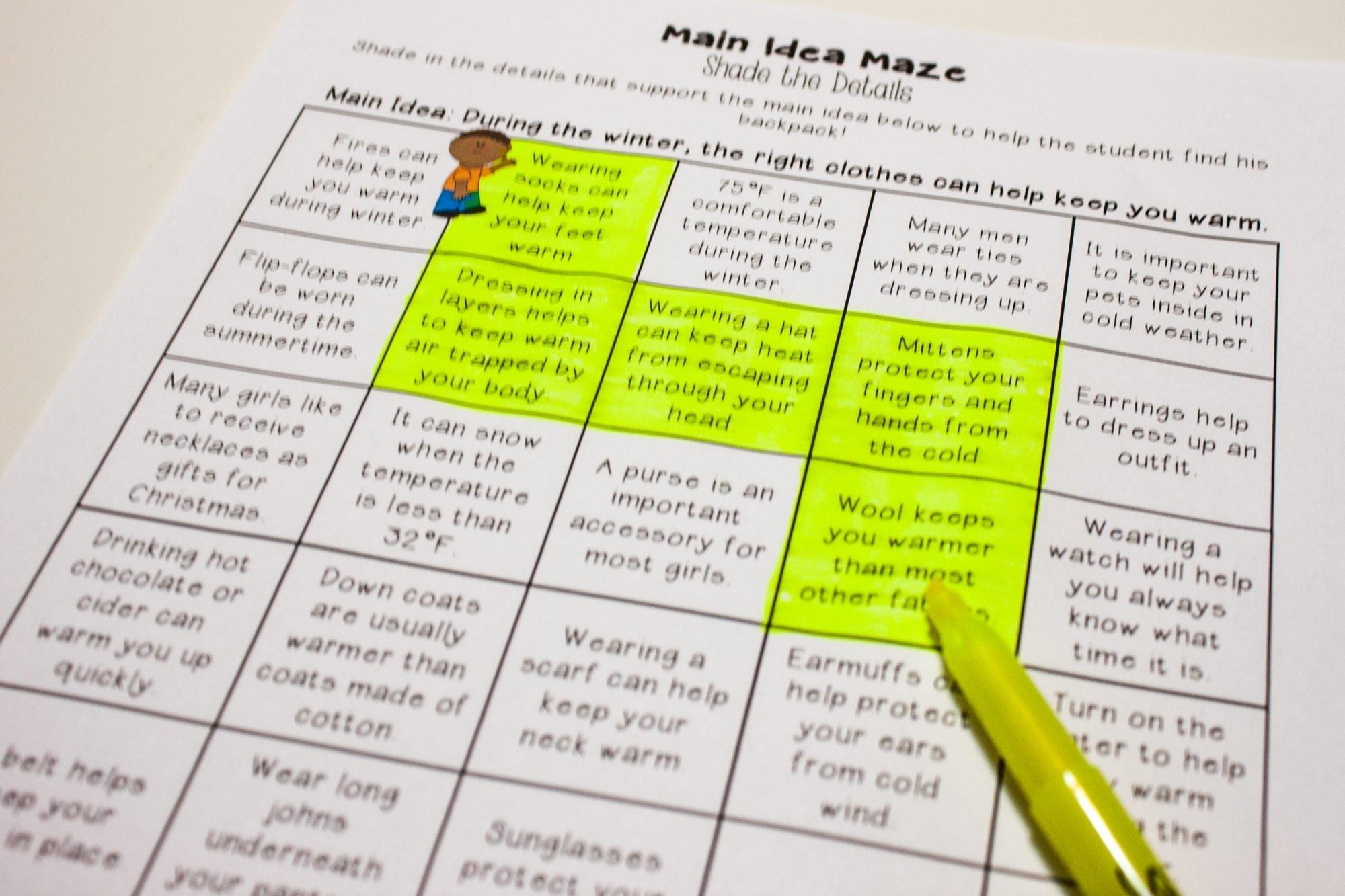 10 Best Main Idea Activities 3Rd Grade main idea centers for upper elementary teaching made practical 2020