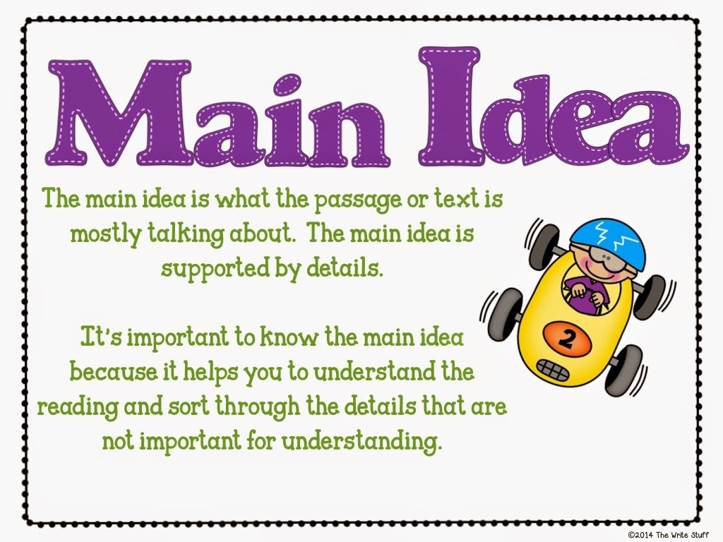 main idea - lessons - tes teach