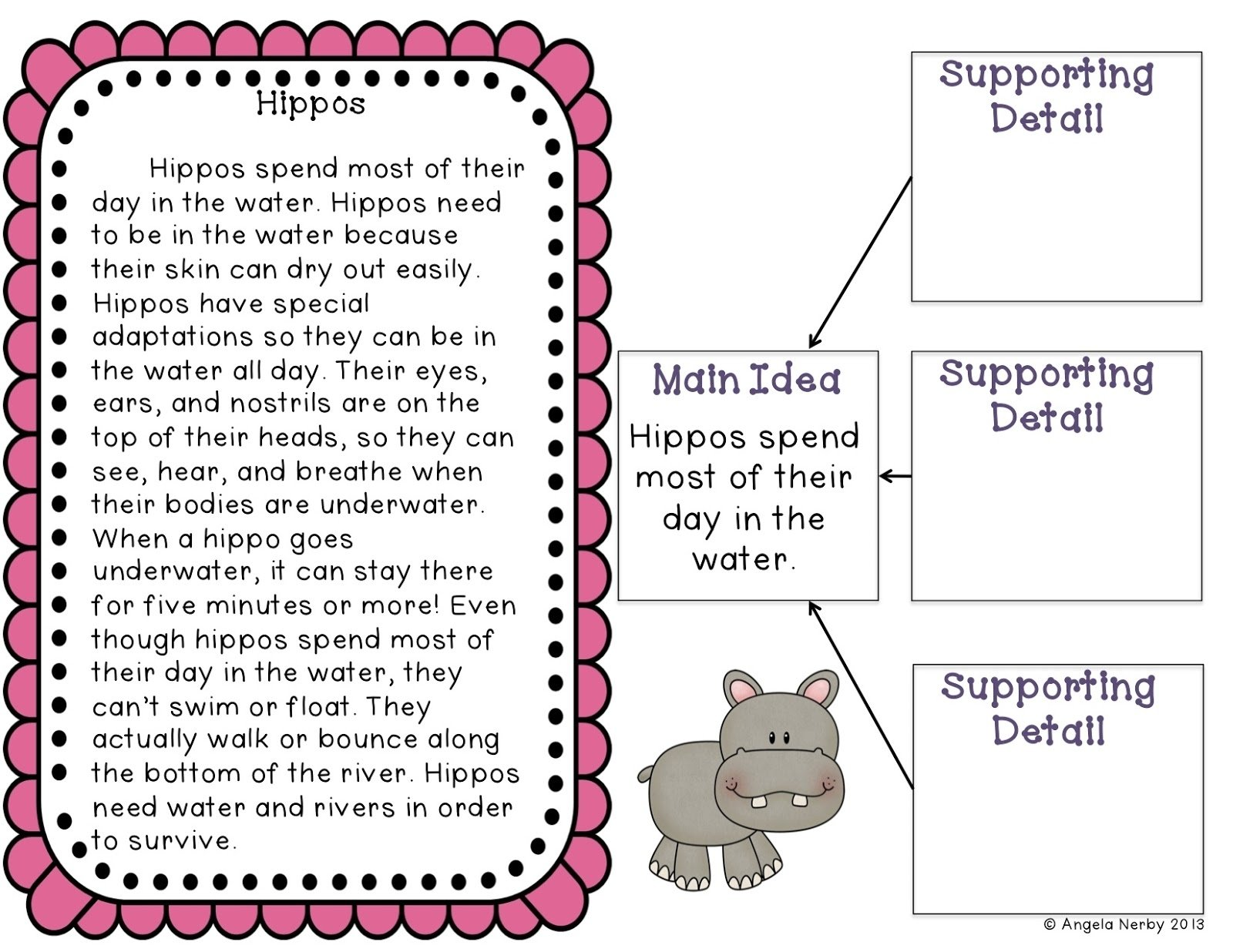 main idea mania! freebie and giveaway :) - hippo hooray for second