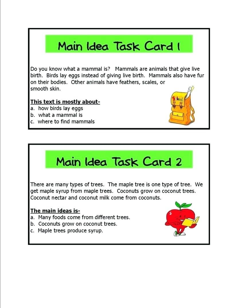 10 Stylish Main Idea Worksheets For 2Nd Grade main idea multiple choice worksheet worksheets for all download 2nd 2021
