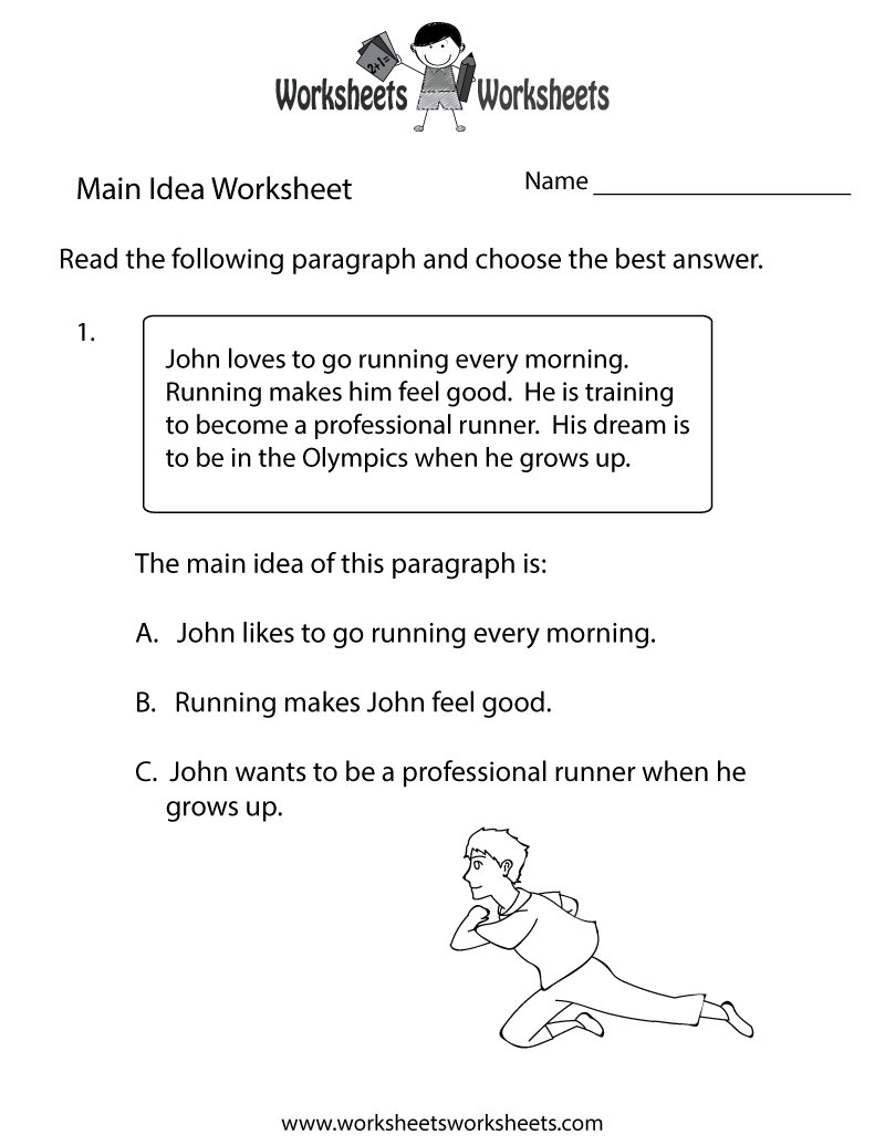 10 Famous Main Idea 4Th Grade Worksheets main idea multiple choice worksheets worksheets for all download 2020