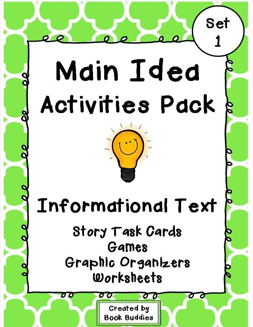 10 Most Recommended Main Idea And Details Games main idea nonfiction activities and games graphic organizers 2020