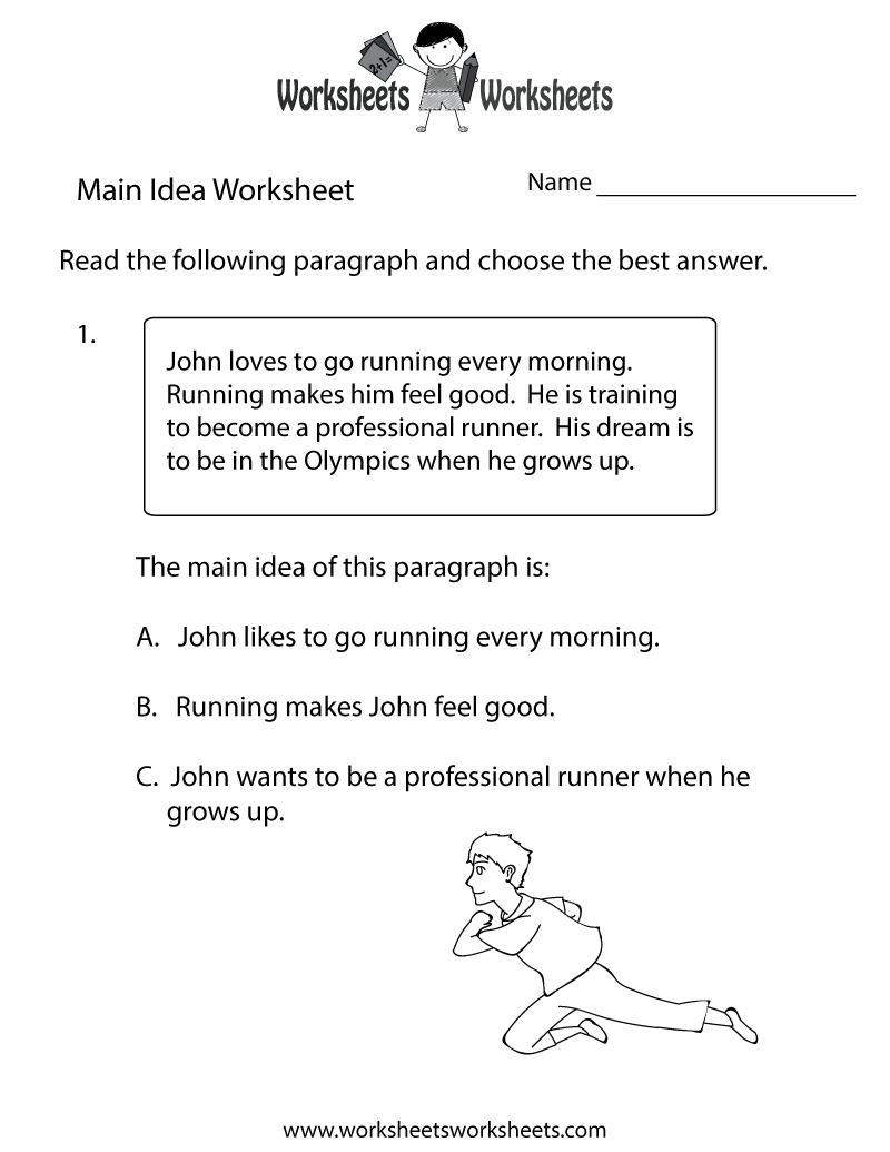 10 Most Recommended Free Printable Main Idea Worksheets main idea practice worksheet free printable educational worksheet 1 2020