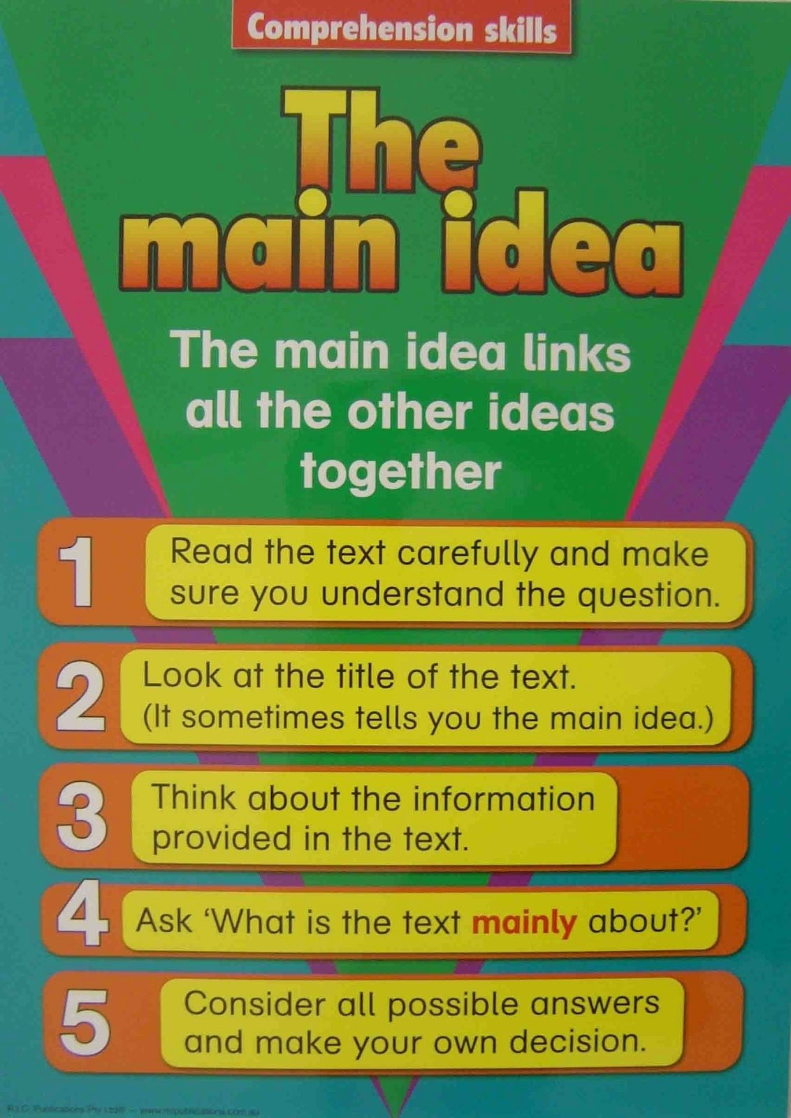 main idea review & practice - lessons - tes teach
