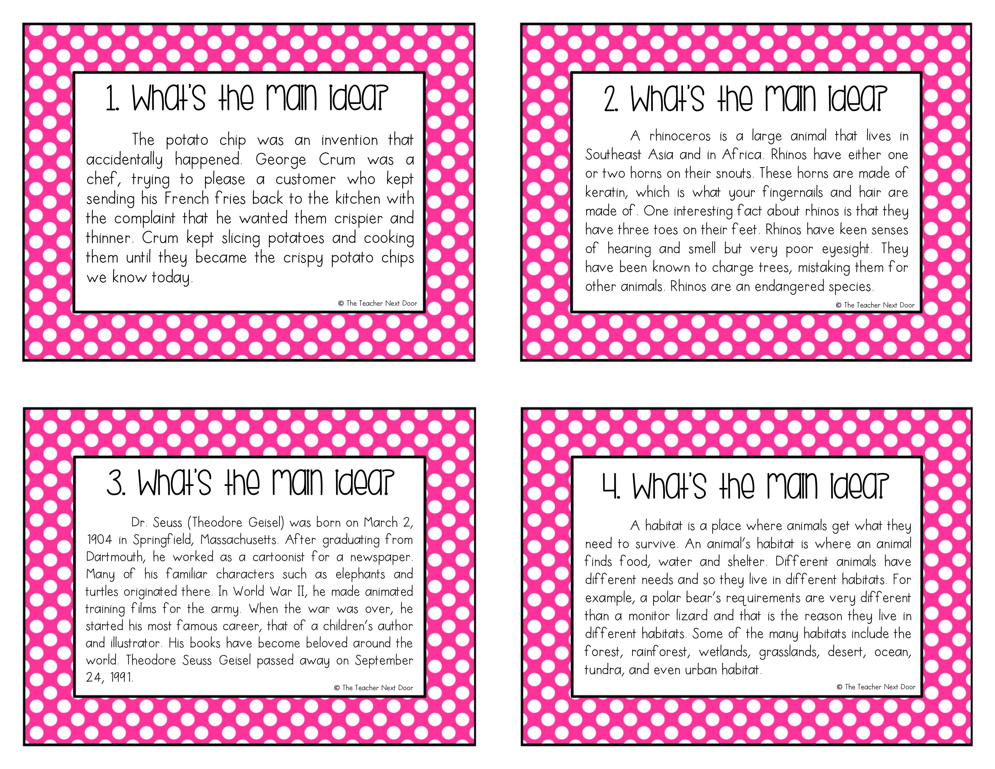 10 Fantastic Main Idea For 3Rd Grade main idea using informational text 3 2020