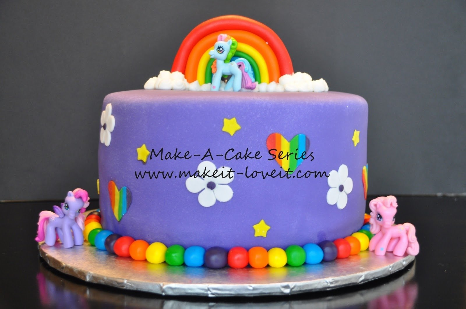 10 Elegant My Little Pony Cake Ideas make a cake series my little pony cake and rainbow cookies make