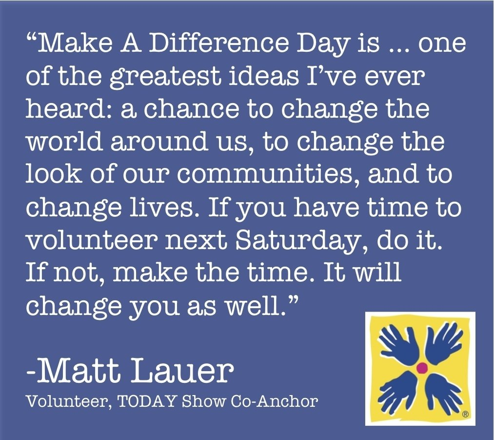 10 Awesome Make A Difference Day Ideas make a difference day is next weekend will you make the time to 2020