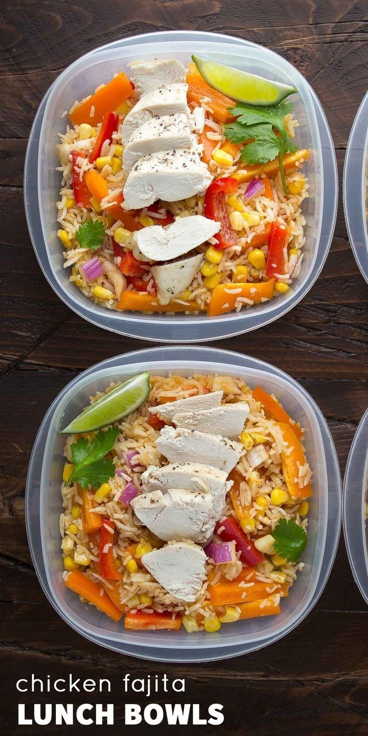 10 Stylish Simple Lunch Ideas For Work make ahead chicken fajita lunch bowls recipe lunches bowls and 1 2021