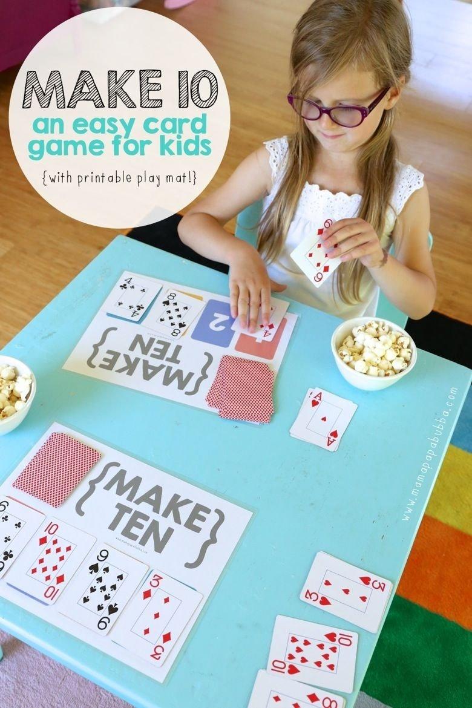 10 Stylish Main Idea Games For Kids make ten an easy card game for kids math skills 100 fun and math 2020