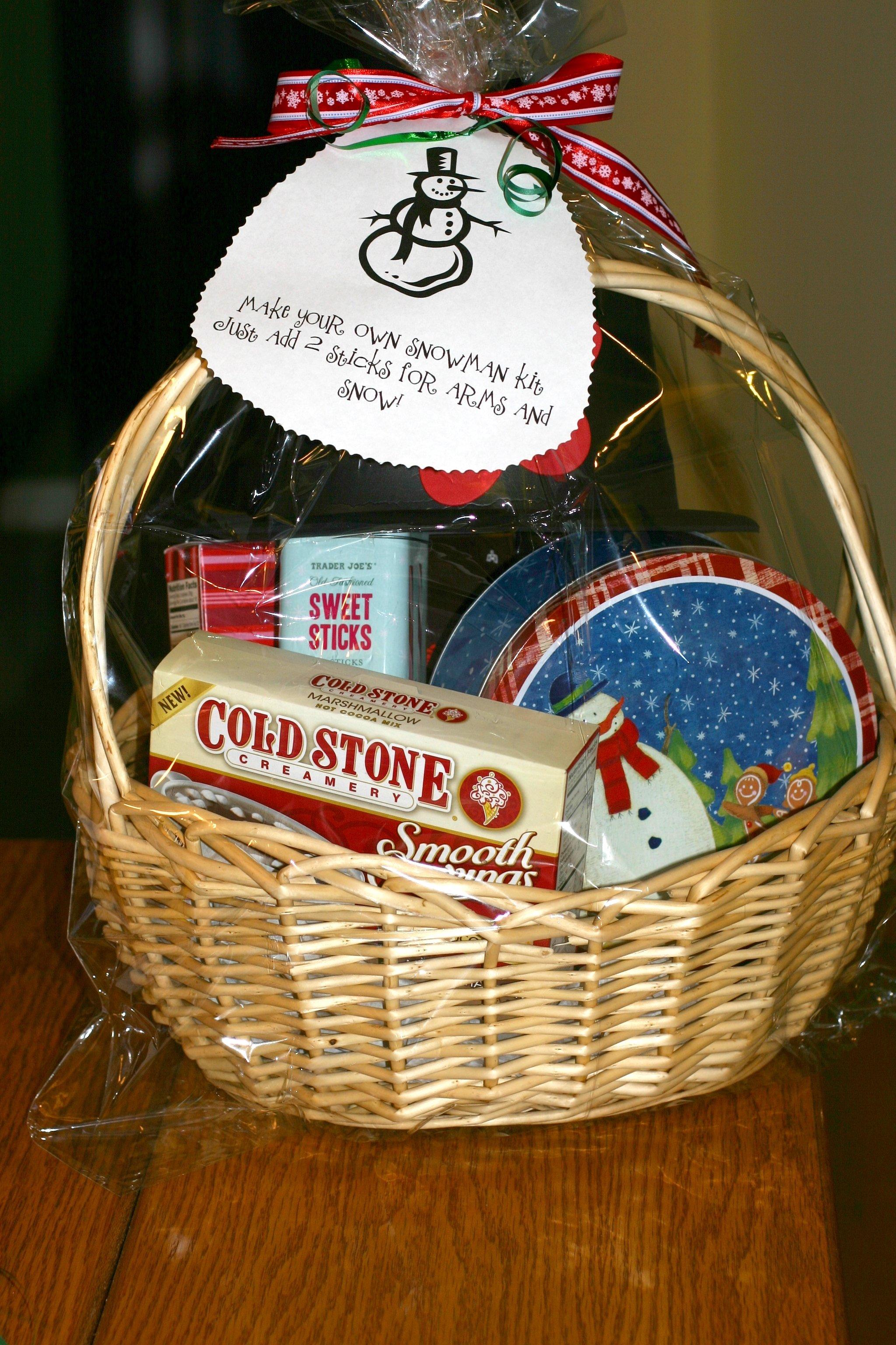 10 Fantastic Make Your Own Gift Basket Ideas make your own snow man kit gift basket bargain shopper mom 2021