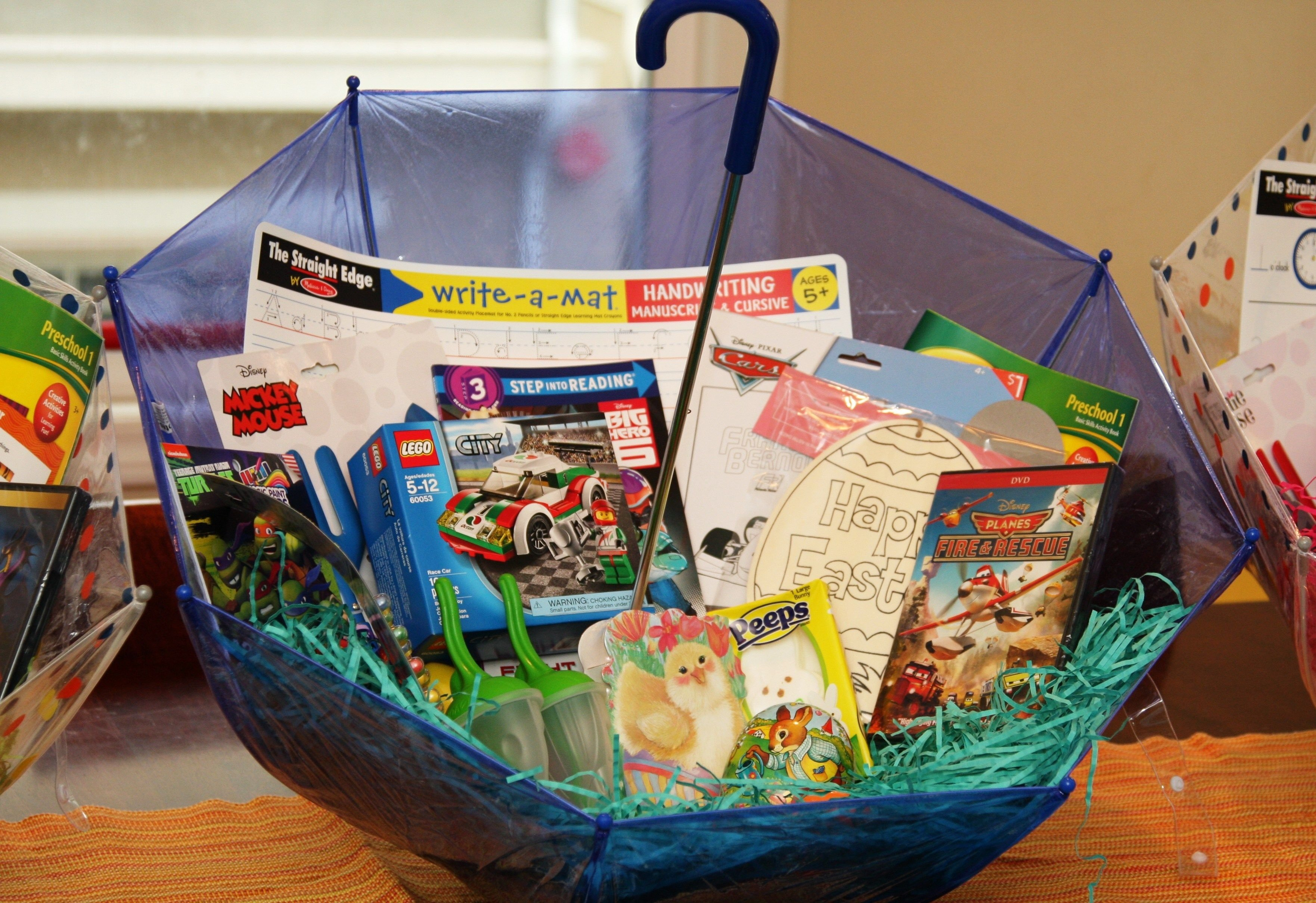 10 Fantastic Make Your Own Gift Basket Ideas make your own umbrella easter baskets non candy centered allergy 2021