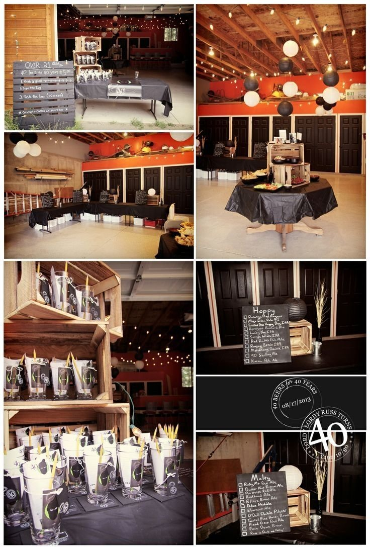 10 Lovely Pinterest 40Th Birthday Party Ideas Male 40th
